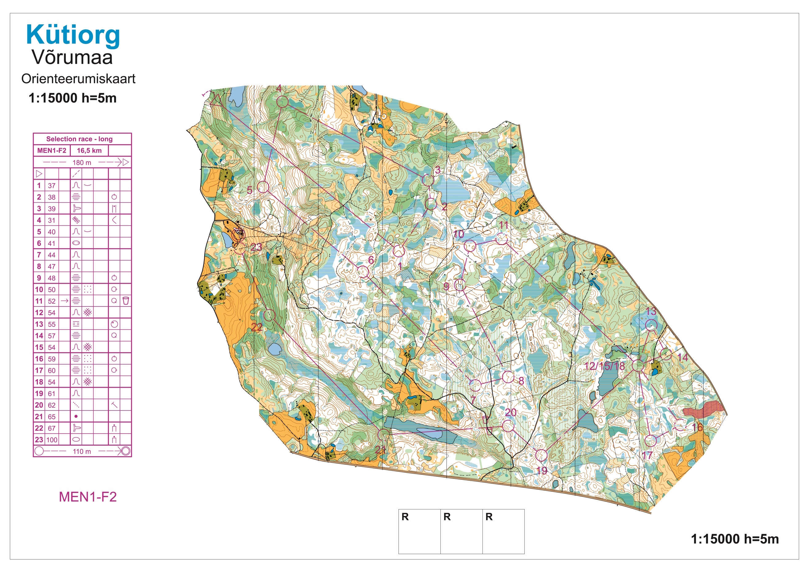 WOC Selection 2017 - Long (14/05/2017)